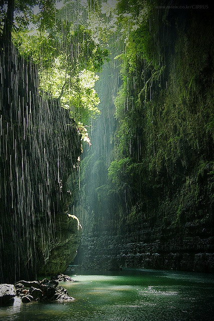 Green canyon in Indonesia | See More Pictures