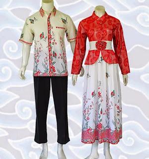 baju gamis batik sarimbit muslim terbaru