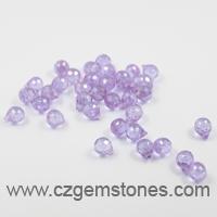 teardrop cubic zirconia beads lavender