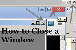 How to close a window