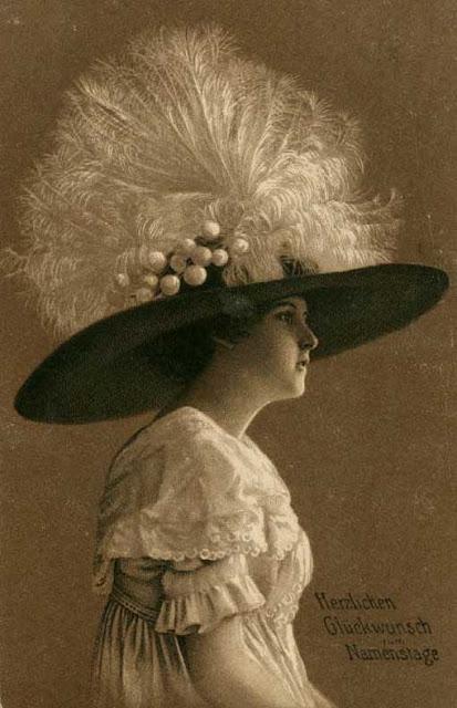 La Sombrerera de Lady Marlo Sombreros con plumas 18701920