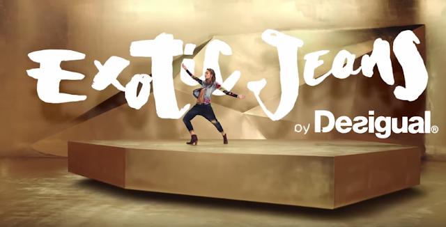 canzone e modella desigual exotic jeans