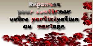 Réponses pour confirmer votre participation au mariage