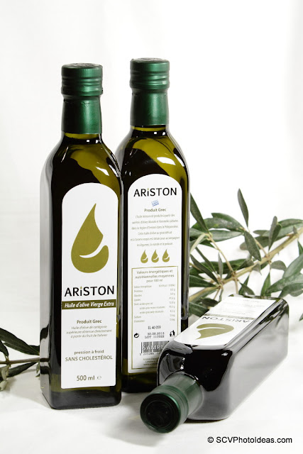 Ariston Olive oil bottles w/ olive tree twig