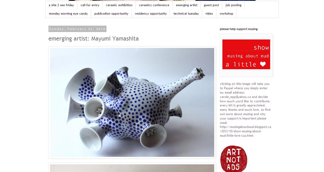http://musingaboutmud.blogspot.jp/2014/02/emerging-artist-mayumi-yamashita.html?spref=fb