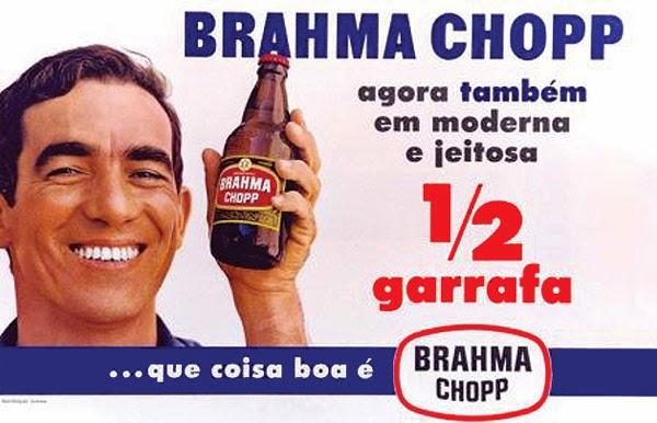 Propaganda de 1967 que apresentava a pequena cerveja da Brahma.