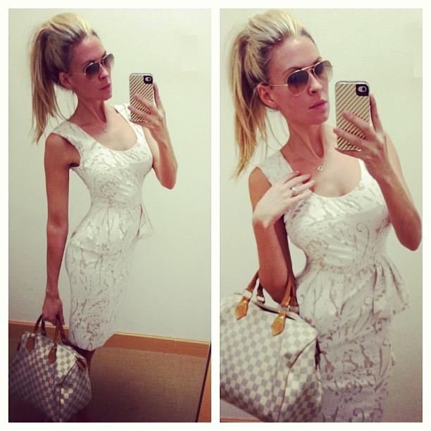 Lauren Jones, Model, Designer, in BCBG dress