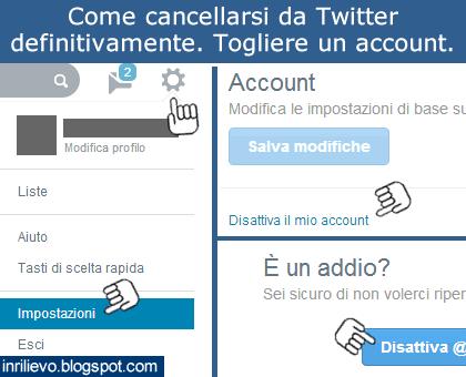 cancellarsi da twitter