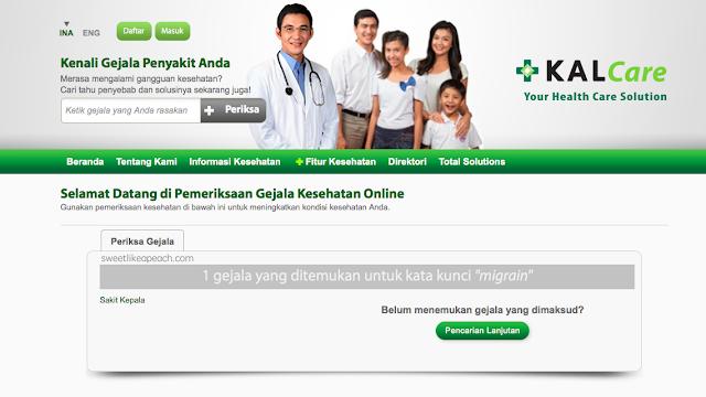 cek gejala kesehatan online di kalcare
