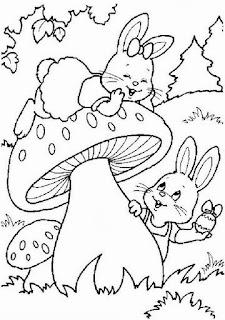 desenho de cogumelo para pintar