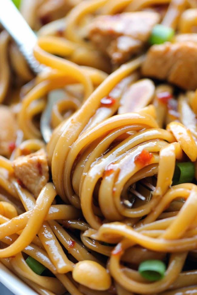 Kung Pao spaghetti recipe