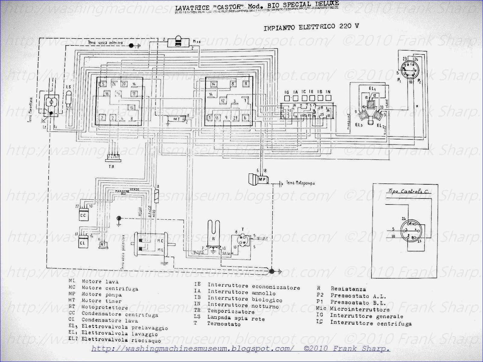 Schema Elettrico Label B50t : Washer rama museum castor mod bio special deluxe