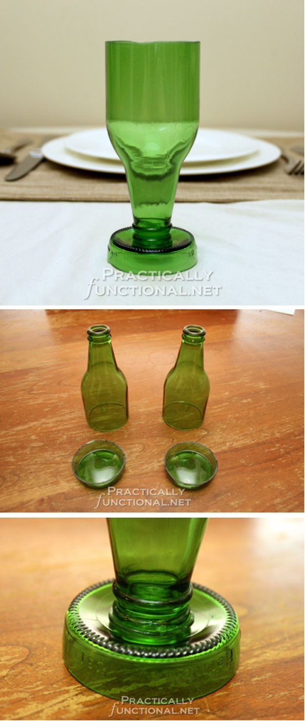 24 fun diy projects to reuse empty beer bottles do it for Diy crafts with glass jars and bottles