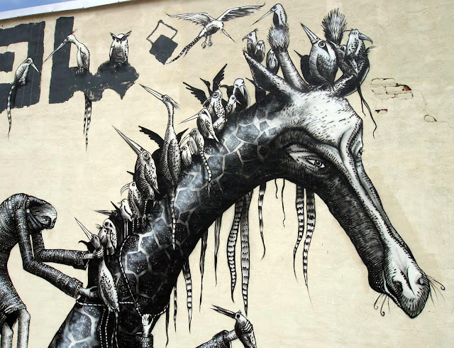 Street Art By Phlegm In Bushwick, Brooklyn. 4