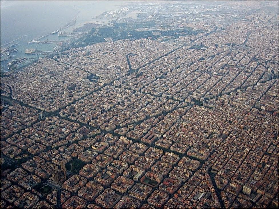 imagen aérea de la ciudad de Barcelona