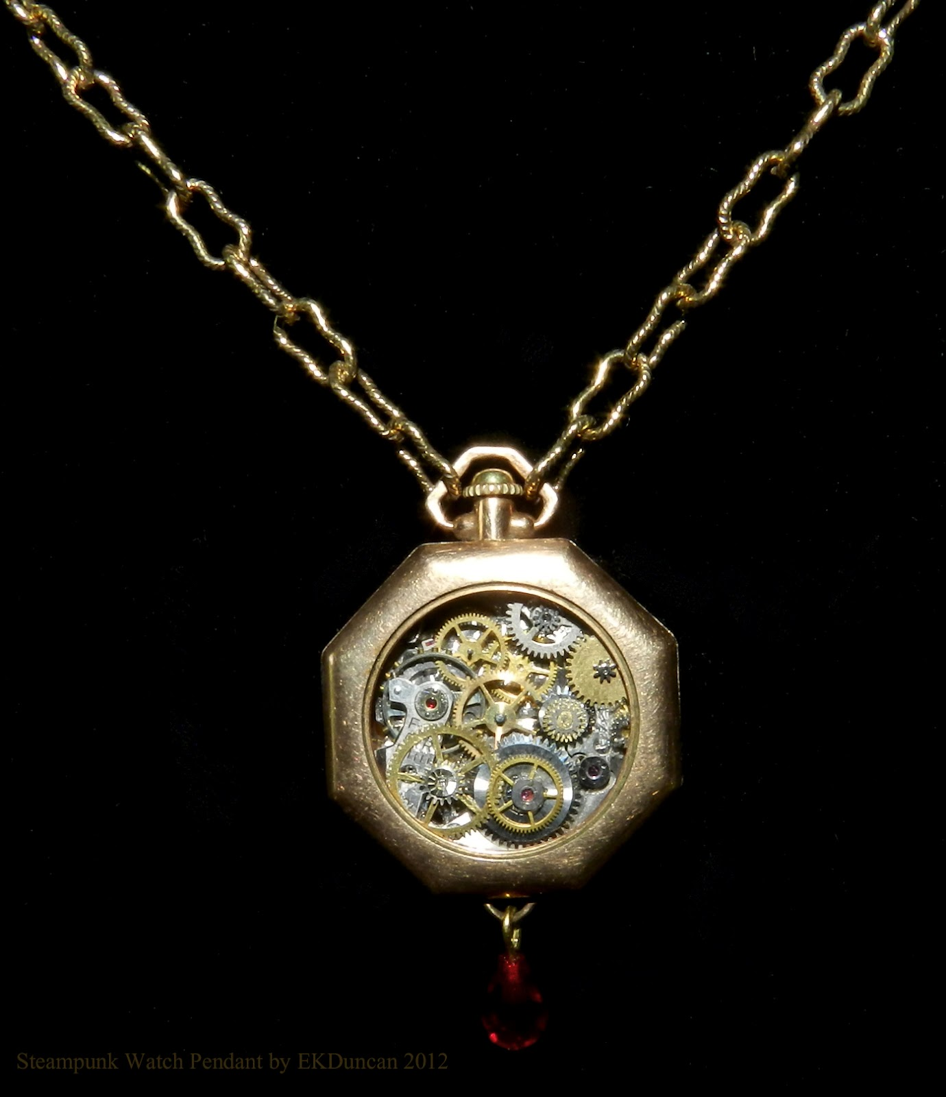 Ekduncan my fanciful muse steampunk vintage watch pendant project ekduncan steampunk vintage watch pendantnecklace mozeypictures Gallery