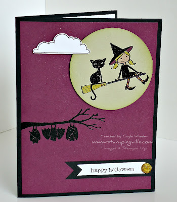 Halloween Card with Stampin' Up! Out on a Limb Stamp Set