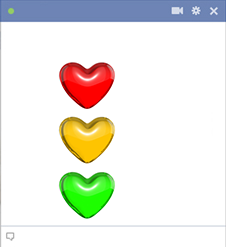 Traffic Light Hearts