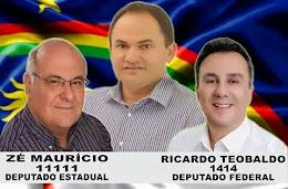 ZÉ MAURÍCIO 11.111 DEPUTADO ESTADUAL E RICARDO TEOBALDO FEDERAL - 1414