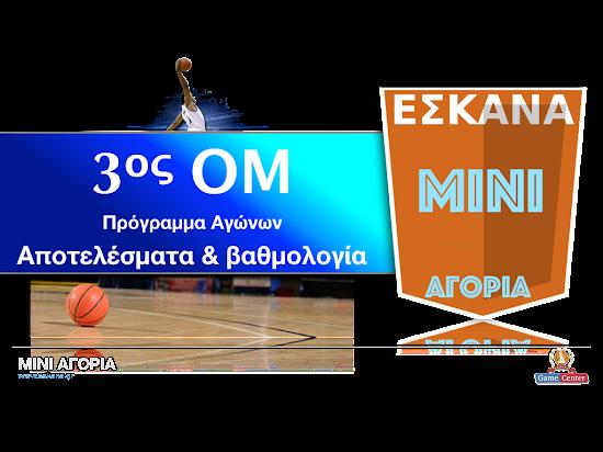 ΜΙΝΙ ΑΓΟΡΙΑ 3ος ΟΜ ☻ Το πρόγραμμα αγώνων