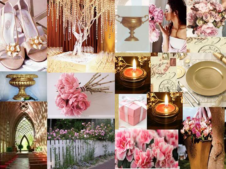 Pink gold wedding