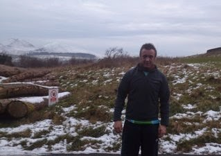 Trail running In The Snow