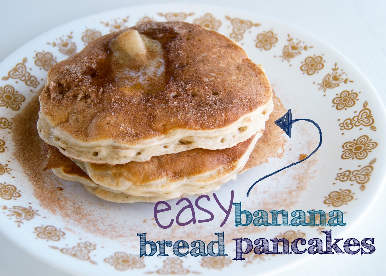 Easy Banana Bread pancakes from scratch