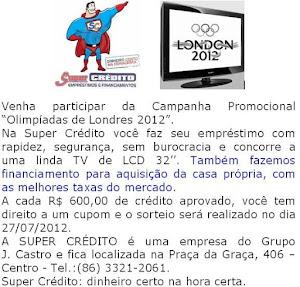 """Venha participar da Campanha Promocional """"Olimpíadas de Londres 2012"""""""