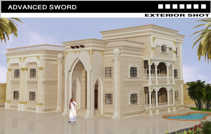 3d front saudi arabia house new villa for New villa design