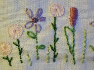 Detail van een quilt