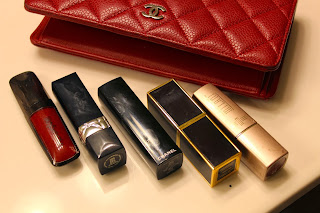 chanel yen wallet red lippies tom ford