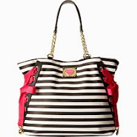 Black Striped Designer Handbags