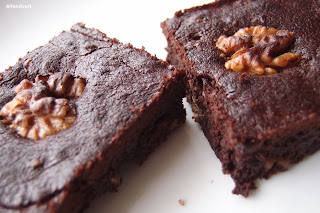 Chocolate Brownie's close up shot