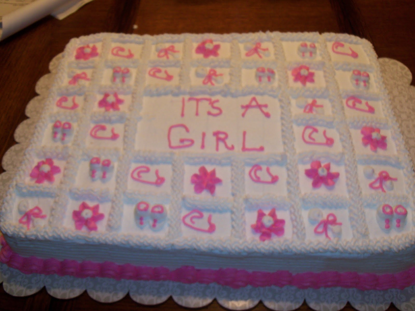 Sheet Cake Decorating Ideas Baby Shower : Baby Shower Cakes: Baby Shower Sheet Cakes For A Girl