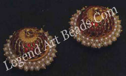 EAR STUDS AND JIMKI (ear ornaments) South India; early 20th century
