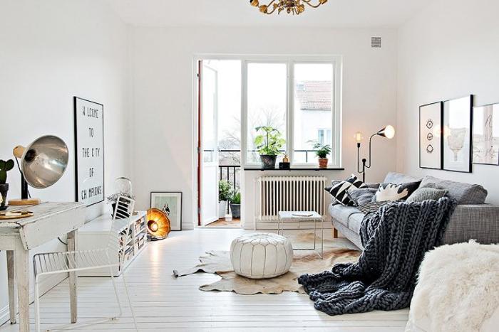 Deco Interiorismo apartamento piso color blanco pequeño