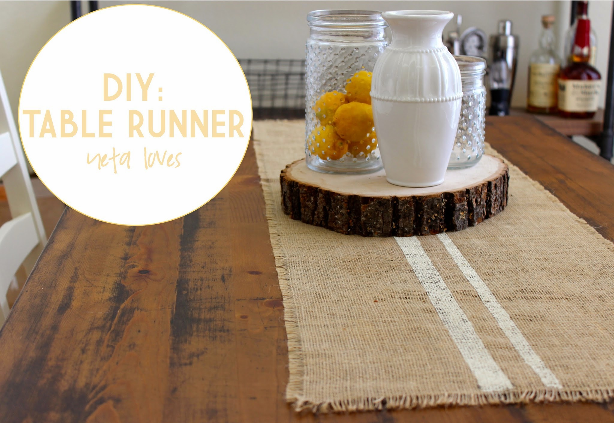 Diy table runner wedding