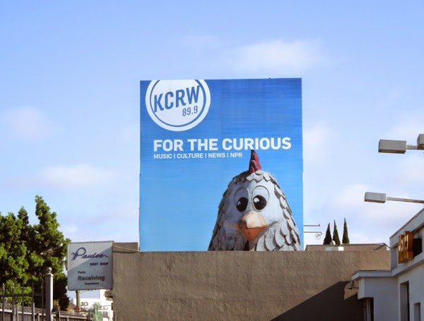 KCRW radio For the curious Chicken Boy billboard