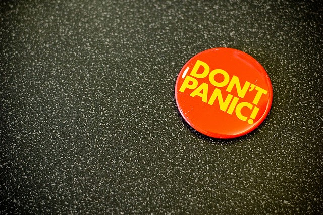 don't panic badge, MS, relapse,