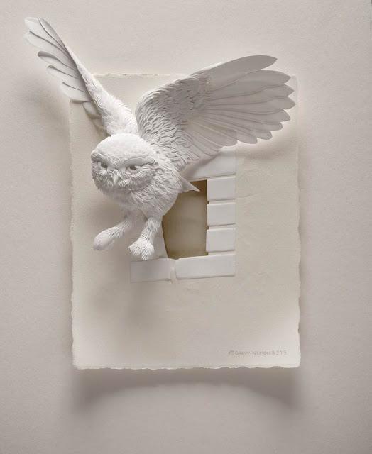 Esculturas de Papel - As bonitas e delicadas criações de papel de Calvin Nicholls