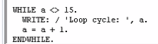 While Loops in SAP ABAP