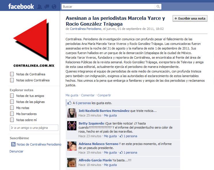 Asesinan a las periodistas Marcela Yarce Viveros y Rocío González ...