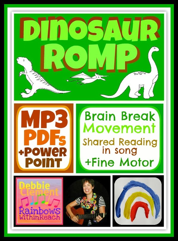 """Dinosaur Romp"" by Debbie Clement goes DIGITAL!"