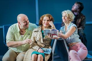 Jeffrey Lloyd Robert, Lucy Schaufer, Ellie Laugharne - Flight - Opera Holland Park - photo credit Robert Workman