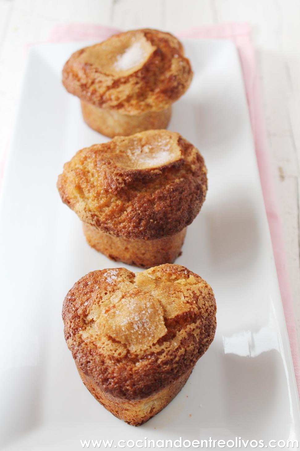 Cocinando entre olivos muffins de peras receta paso a paso for Cocinando entre olivos