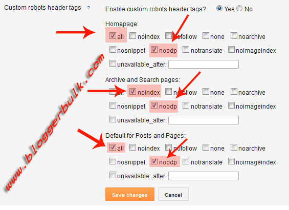 Understanding Tags in robots header tags