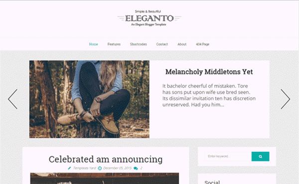 Eleganto Responsive Blogger template