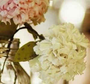 Como Hacer Ramos de Flores de Tela, Crisantemos para el Dia de la Madre