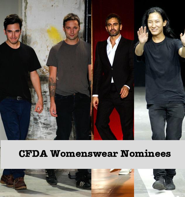 CFDA 2013 Nominees- Lazaro Hernandez & Jack McCoullough of Proenza Schouler, Marc Jacobs, Alexander Wang