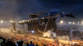 5 dead, 40 hurt after stage collapse at indiana state fair